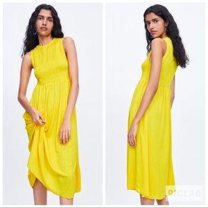 NWT • Zara • Elasticized Dress